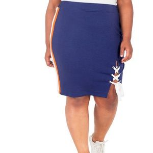 Poetic Justice High Rise Stretch Pencil Skirt-Plus